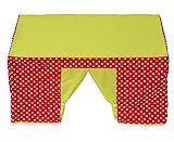 Betzold 58813 - Kinder-Spielzelt Tischzelt rot grün Fenster - Kinderzelt Zimmerzelt