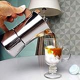 JSL Edelstahl-Herd Espressokocher Latte Mokka Kaffeekanne Werkzeug für Home Office Gas und Induktion Kaffeemaschine, 540 ml - 240