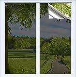 BeIM Spiegelfolie Reflektierende Fensterfolie Selbstklebend Wärmeisolierung Folie Fenster Innen Anti UV Sonnenschutzfolie für Büro Hause Silber (Silber, 60x200cm)