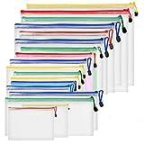 Dokumententaschen ZITFRI 18 Stück Reißverschlussordner Reißverschlusstasche A4 B4 B5 A5 A6 B6 B8 Rechnung - Datei Taschen mit Reißverschluss, Mesh Bag für Datei, Papier, Büro Dokumente