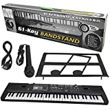 Cerlingwee 61 Tasten Keyboard Piano, Standard Full Size Electronic Keyboard 61 Keyboard Piano Kit für Klavierspiel und Training