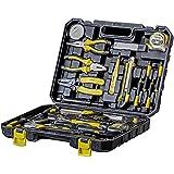 WMC TOOLS Werkzeug Set 34-teilig Werkzeug Haushalt Werkzeugkoffer für Heimwerker und Profi mit Lötkolben, Hammer, Schraubendreher Schlüssel
