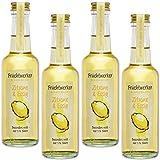 Fruchtwerker | Zitrone & Essig | Mit Saft aus echten Früchten | 4er Pack | 4x 250ml Glasflasche