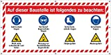 PVC Werbebanner Banner Plane Baustelle Schutzmaßnahmen Sicherheit Warnzeichen