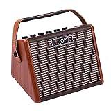 Muslady Akustische Gitarre Verstärker Amp AG-15A 15W Tragbar BT Redner Eingebaut Wiederaufladbare Batterie mit Mikrofonschnittstelle