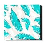 N\A Leinwand Wandkunst Dekoration Blaue Feder Magischer Stil Mädchen Kunst Wanddekor Leinwand Dekorative Malerei Geeignet für Wohnkultur