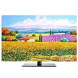 LIUDINGDING-zheyangwang TV-Abdeckung LCD-TV-Staubschutz Hängend Verfügbar 55inch Lavendel Landschaft (Color : Edinburgh, Size : 70inch)