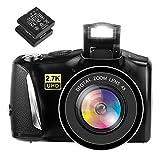 Digitalkamera Fotoapparat Digitalkamera 48MP 2,7K Kompaktkamera 3,0-Zoll-Bildschirm Digitalkameras mit 2 B
