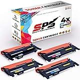 SPS CLT-K406S CLT-C406S CLT-Y406S CLT-M406S 4er Set Toner kompatibel für Samsung 406 CLP360 Series CLX3305FN CLX3305W Xpress C410W C460FW C460W (1 Schwarz 1 Cyan 1 Magenta 1 Gelb)