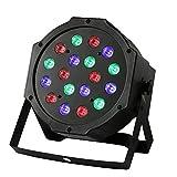 Spot Scheinwerfer, 10* RGB LED PAR 64 DMX 512 Bühnenlampe 18 * 3W Floorspot Wash Lichtanlage Spot Wash Floorspot DJ Licht 6-Kanal