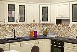 Untitled STM Dekor | Küchenrückwand Paneele Kieselsteine | 60 х 300 cm | Spritzschutz | Wandpaneele | Backsplash for Kitchen | Dekor für die Küche