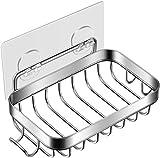 Homemaxs Seifenschale, 【2020 Neueste】 Seifenschale Dusche Seifenschale für die Dusche mit Haken, 304 Edelstahl Wand Seifenhalter für die Badküche - Leistungsstarker Klebstoff ohne Bohren