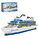 Onenineten Kreuzfahrtschiff Modell Bausteine, Quantum of The Seas Kreuzfahrtschiff Modellbausatz, 2428 Teile Klemmbausteine Kompatibel mit Lego