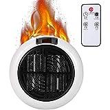 900W Mini tragbare Lüfterheizung Elektrische Lüfterheizung, elektrische elektrische Raumheizung zum Anschließen, komfortabler, wärmegeregelter Thermostat für Büro und Zuhause (Weiß)