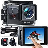 Victure AC820 Native 4K 50FPS Action-Kamera EIS 4X Zoom 20MP WiFi Sportkamera 40M Unterwasser-wasserdichter Camcorder, zusätzliches Ladegerät mit Batterie, Fernbedienung und Montagezubehör