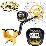 Metalldetektoren, Wasserdichte Metalldetektor für Erwachsene mit 4 Betriebsmodi+Pinpointer, 25.4cm Hochpräziser Suchspule und LCD,Verstellbarem Stiel
