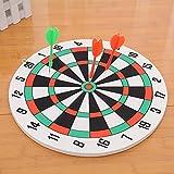 COMF Dartscheibe Set, 29.5cm mit 3 Pfeile Dartboard Set zweiseitig Steeldarts schwarz-weiß ideal für die ganze Familie