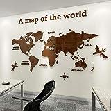 Weltkarte Wandsticker,Weltkarte Wandtattoo,Wandtattoo Schlafzimmer, Weltkarte Acryl Wandaufkleber Dreidimensionale/Wandbilder 230 * 120cm B