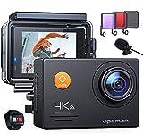 APEMAN A79 4K UHD WiFi 16 MP Action Cam mit Fernbedienung und externem Mikrofon 40 M, wasserdicht Unterwasserkamera EIS stabilisiert Videokamera