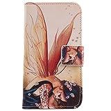 Lankashi PU Flip Leder Tasche Hülle Case Cover Schutz Handy Etui Skin Für XGODY G400 4.5' Wing Girl Design