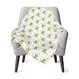 Süße Frösche und Kronen Babydecke für Neugeborene, Jungen und Mädchen, weiche Decke für Kleinkinder.