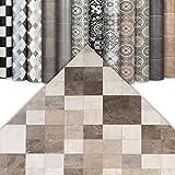 CV Bodenbelag Fliesenoptik - abriebfester PVC Bodenbelag - Top Design (200 x 300 cm, Toscana Sand)