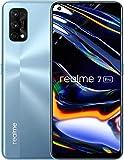 realme 7 Pro Mirror Silver 8 + 128 GB, 16,3 cm AMOLED Full Screen Display, Quad-Kamera, 4500 mAh Akku mit 65 W Dart Charge, SIM-Freies Smartphone, Dual-SIM, UK-Stecker