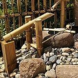 Bambuswasserbrunnen Wasserspiel Hinterhof Teich Fließende Pumpe Garten Japanische Landschaftsdekoration