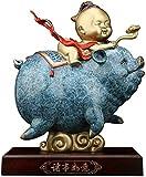 DYB Reichtumssymbolstatue Chinesisches Sternzeichen Schwein Jahr Reine Kupfer Schwein Ornamente Sammlerfiguren Tischdekor Statue Glücksfigur 1125
