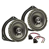 tomzz Audio 4039-000 Lautsprecher Einbau-Set passend für Opel Corsa B C Tigra Vivaro Renault Traffic 165mm Koaxial System TA16.5-Pro
