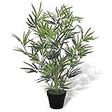vidaXL Kunstpflanze Bambus 80cm Künstlicher Baum Kunstbaum Zimmerpflanze Deko