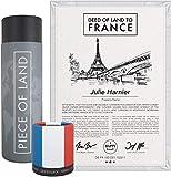 happylandgifts® Echtes Grundstück in Frankreich - dem Land der Liebe   Personalisierte Besitzurkunde mit Wunschnamen