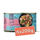 Nassfutter für Hunde   Lachs mit Reis, Erbsen, Kartoffel und Hagebutte für Hunde   1,14 kg - 6er-Pack