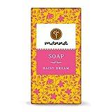 Manna Seife   Rosafarbene Spezialität auch für trockene Haut   Zaubergartenseife   90g   100% natürliche Inhaltsstoffe, Sanfte Handpflege Handgefertigt, Vegan, Palmölfrei, Tierversuchsfreiheit