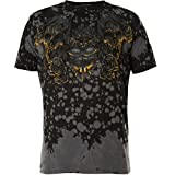 Affliction T-Shirt Forged In Fire Grau, S