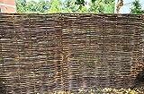 LA Weidenprofi Sichtschutz, Haselnusszaun Modell Universal mit Seitenrahmen, Flechtzaun aus Hasel, Größe (BxH): 180 x 60 cm