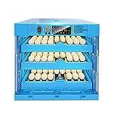 LKAIBIN 192 Digitaler Inkubator für Geflügel, Hühner, Ente, Gänse, Vögel, automatische Drehung, Feuchtigkeitskontrolle