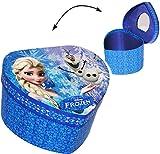 alles-meine.de GmbH Schmuckkasten - mit Spiegel & Glitzer -  Disney die Eiskönigin - Frozen / Herz  - Mädchen - Utensilo - Kinderzimmer - z.B. für Schmuck - Schmuckbox - S