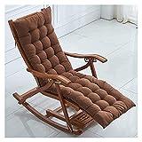 ZOUJIANGTAO Sessel Schaukelstuhl Liegewinne Haushalt Balkon Massivholz Lazy Rattan Stuhl Freizeitstuhl Entspannender Stuhl Erwachsener (Color : Brown)