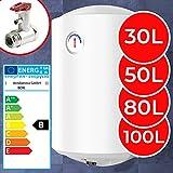 Elektro Warmwasserspeicher - Thermometer, 1500W, emailliert, 30, 50, 80, 100 Liter Speicher, für Wandmontage - Wasserboiler, Boiler, Warmwasserbereiter, Warmwasserboiler für B