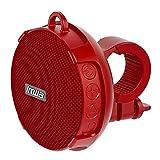 IYUNDUN Outdoor-Bluetooth-Lautsprecher, Tragbares Drahtloses Fahrrad Mini Wasserdichtes Stereo-Soundsystem, Für Dusche, Outdoor-Wandern, Camping, Radfahren (Color : Red)