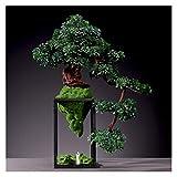 Künstlicher Bonsai Desktop Simulation Begrüßt Kiefer Bonsai Indoor Große grüne Pflanzen Topfpflanzen Wohnzimmer Eingang Partition Gefälschte Blumen Dekoration Ornamente Geschenke Zimmerbonsai Bonsai