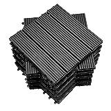 EINFEBEN Terrassen-Fliese WPC Kunststoff,30x30cm,11 Stück,anthrazit, Garten Klickfliese, Bodenbelag mit Drainage,korrosionsbeständig und einfach zu installieren