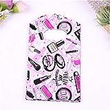 Luxuriöse modische kleine Kunststoff-Taschen für Lipstic-Geschenke, 50 Stück, 9 x 15 cm