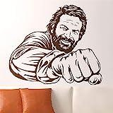 wandaufkleber 3d Wandtattoo Wohnzimmer Aufkleber Bud Spencer Berühmter berühmter italienischer Komiker-Schauspieler-Porträt humorvolles Tion