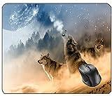 Aventn Wölfe Wolf heulenden Mond Sterne Nacht wilde Tierwelt Raubtier grau Säugetier Natur Hund Fell Hund Holz Augen pelzigen grauen Tier Fleischfresser Lupus Wolf Augen Beute Mauspad