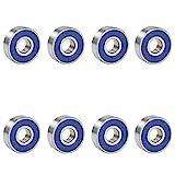 TRIXES 8 x reibungsfreie Kugellager ABEC 9 für Skateboard, Roller, Inline Sk