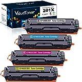 valuetoner Kompatibler Toner Ersatz für HP 201x 1 Black, 1 Cyan, 1 Magenta, 1 Yellow