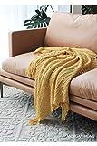 Amosiwallart Decke hochwertige Wohndecken Kuscheldecken, extra warm Sofadecke/Couchdecke in zweiseitig, super flausch Fleecedecke als Sofaüberwurf oder Wohnzimmerdecke -Hellgelb_127 x 170 cm