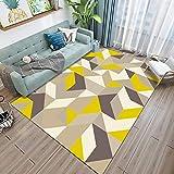 Yumanluo Home Hochflor Teppich,Rechteckiger dekorativer Teppich, Wohnzimmer Couchtisch Matte-D_80 * 120cm,Wohnzimmer Felltepp